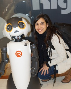 Me and the new version of Robovie.